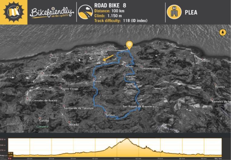 Ruta Bicicleta Carretera Nº8: Sarón - Villacarriedo - El Campillo - San Roque de Riomiera