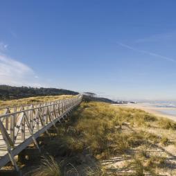 Playa de Somo. Ubicada en la parte oriental de la bahía de Santander