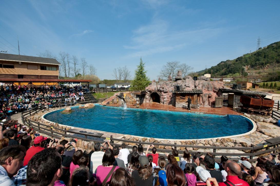 La visita al parque puede complementarse con la asistencia a alguno de los espectáculos de aves rapaces o de leones marinos. (Foto: Turismo de Cantabria, turismodecantabria.com)