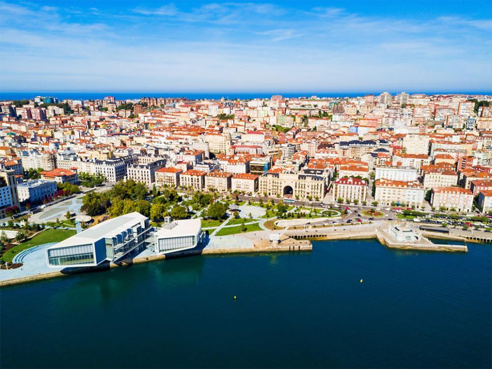 Imagen aérea de Santander Capital de Cantabria