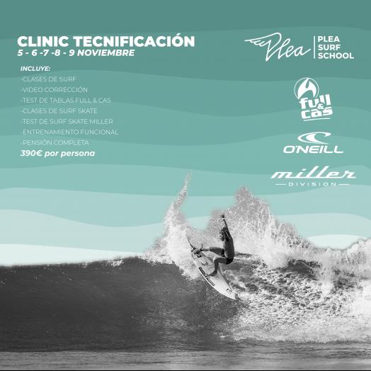 Clinic Tecnificación Surf Otoño en PLEA